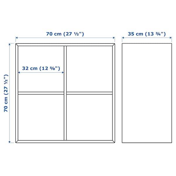 EKET Armário c/4 compartimentos, ef carvalho c/velatura branca, 70x35x70 cm