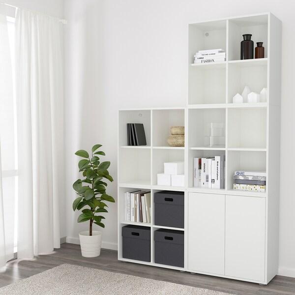 EKET Combinação armário c/pés, branco, 140x35x212 cm