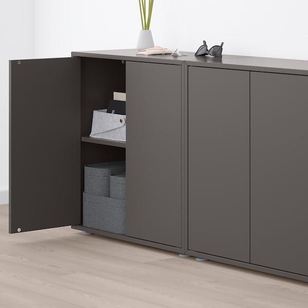 EKET Combinação armário c/pés, cinz esc/cinz clr turquesa acinzentado, 280x35x72 cm
