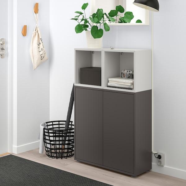 EKET Combinação armário c/pés, cinz esc/cinz clr, 70x25x107 cm