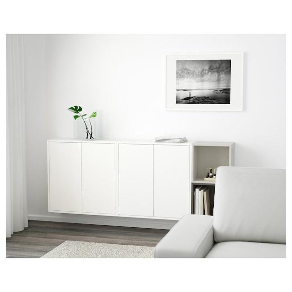 EKET Combinação armário parede, branco/cinz esc/cinz clr, 175x25x70 cm