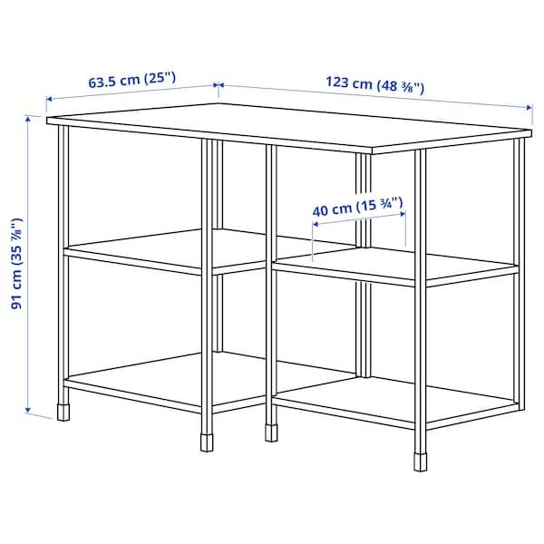 ENHET Comb arrum ilha cozinha c/assento, branco, 123x63.5x91 cm