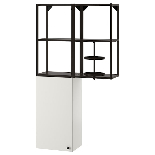 ENHET Comb arrum parede, antracite/branco, 80x32x150 cm