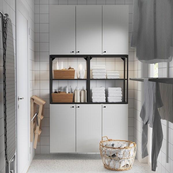 ENHET Comb arrum parede, antracite/branco, 120x32x225 cm