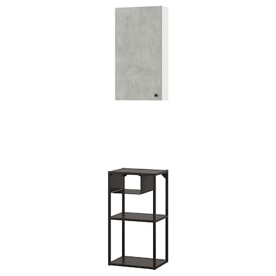 ENHET Comb arrum parede, antracite/efeito betão, 40x30x150 cm