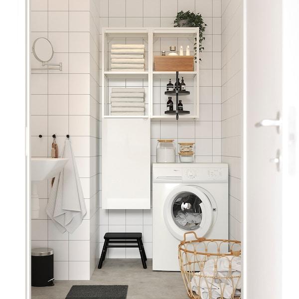 ENHET Comb arrum parede, branco/brilh branco, 80x32x150 cm