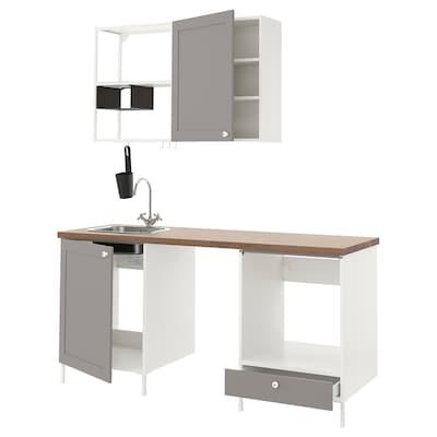 ENHET Cozinha, branco/cinz estrutura, 183x63.5x222 cm