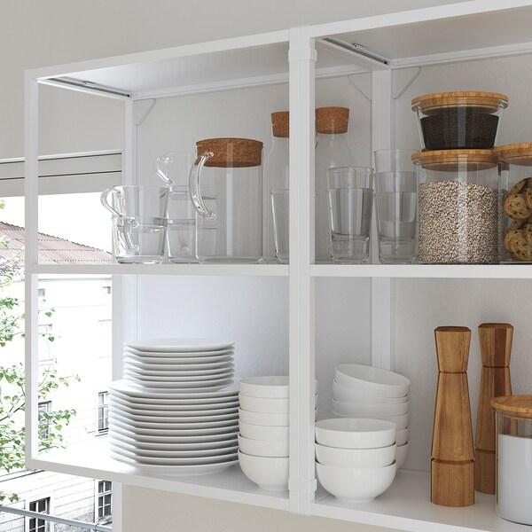 ENHET Cozinha, branco/cinz estrutura, 123x63.5x222 cm