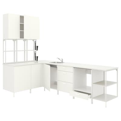 ENHET Cozinha de canto, branco