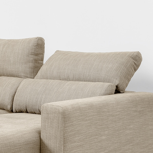 ESKILSTUNA sofá 3 lugares c/chaise longue/Hillared bege 268 cm 162 cm 100 cm 162 cm 225 cm 58 cm 45 cm 108 cm 225 cm
