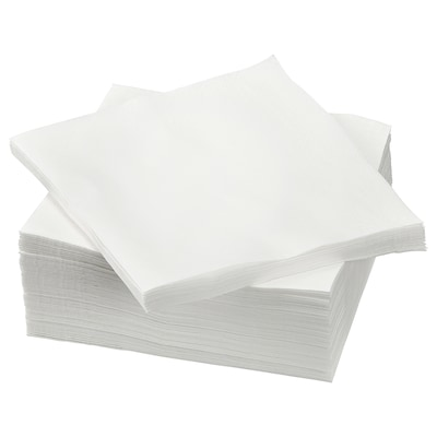 ETERISK Guardanapo de papel, branco, 33x33 cm