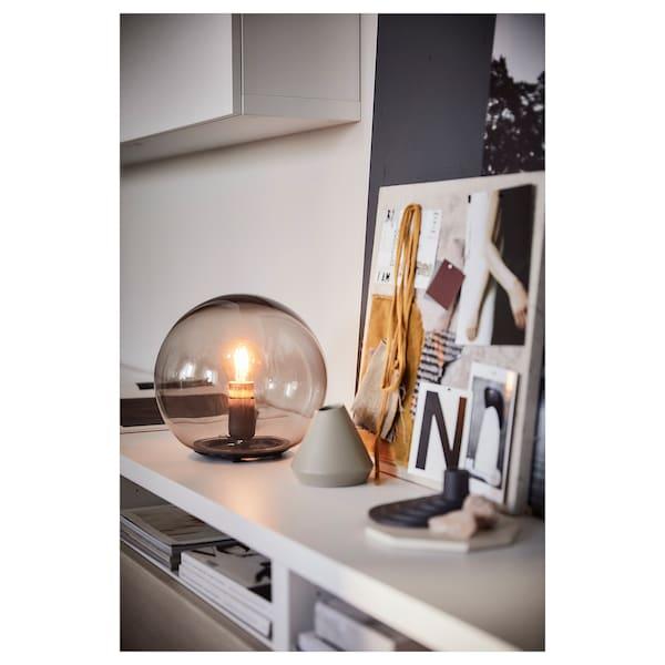 FADO Candeeiro de mesa, cinz, 25 cm