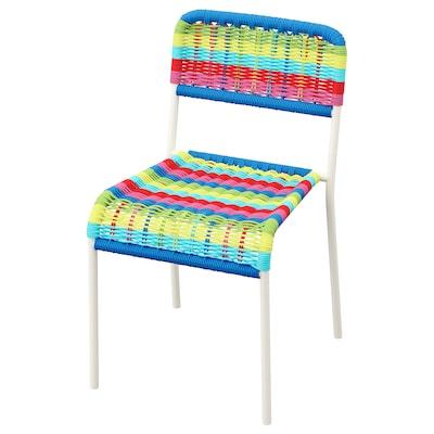 FÄRGGLAD Cadeira p/criança, interior/exterior/multicor