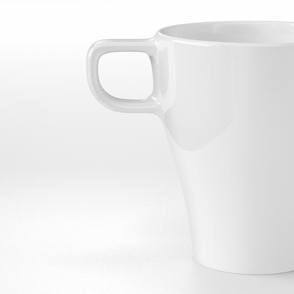 FÄRGRIK Caneca, grés branco, 25 cl