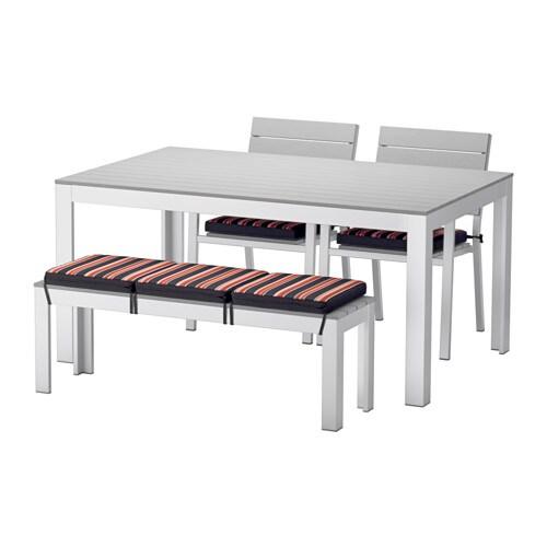 Falster mesa 2 cadeiras banco exterior ikea for Bancos de exterior ikea