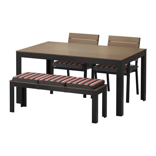 Falster mesa 2 cadeiras banco exterior falster preto - Mesas exterior ikea ...