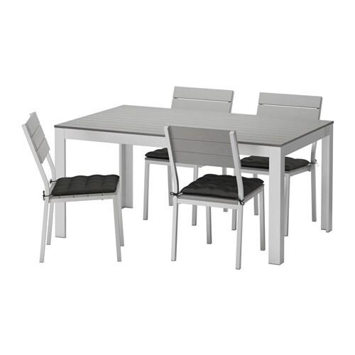 Falster mesa 4 cadeiras exterior falster cinz h ll preto ikea - Mesas exterior ikea ...