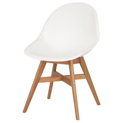 FANBYN Cadeira, branco/interior/exterior