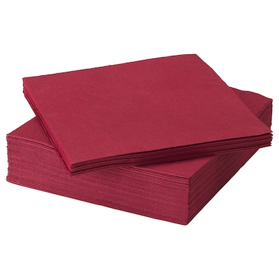 FANTASTISK Guardanapo de papel, vermelho escuro, 40x40 cm