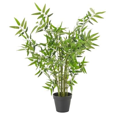 FEJKA Planta artificial em vaso, interior/exterior bambu, 12 cm