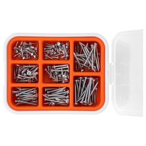 IKEA FIXA Conj. parafusos p/mad, 200 peças
