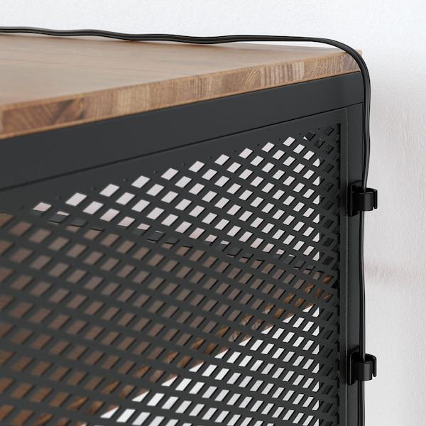 FJÄLLBO Mesa p/portátil, preto, 100x36 cm