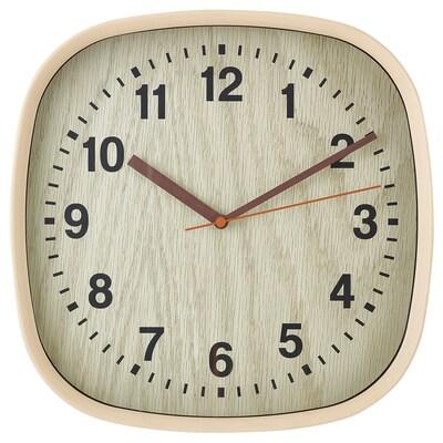 FJÄRR Relógio de parede, castanho claro, 30x30 cm