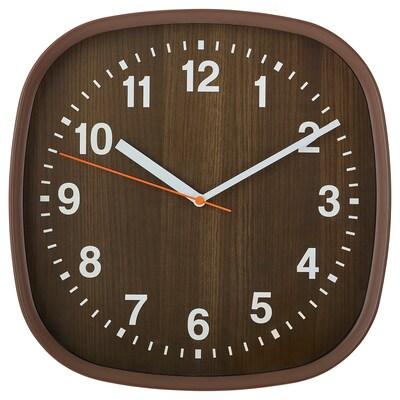 FJÄRR Relógio de parede, castanho escuro, 30x30 cm