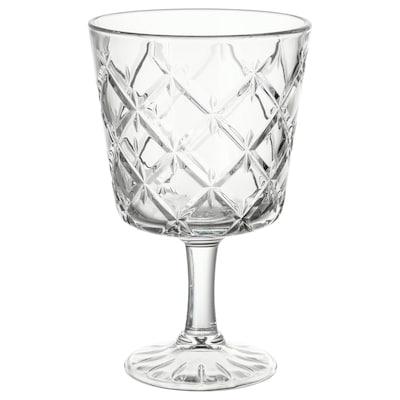 FLIMRA copo c/pé vidro transparente/c/padrão 13.7 cm 23 cl