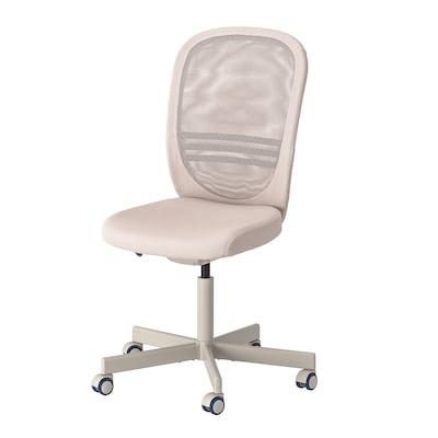 FLINTAN Cadeira giratória, bege