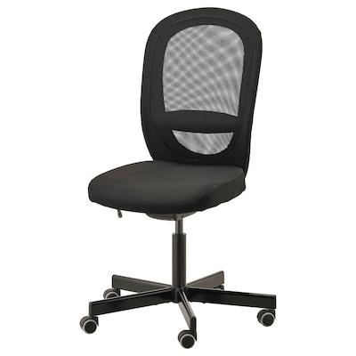 FLINTAN Cadeira giratória, Vissle preto