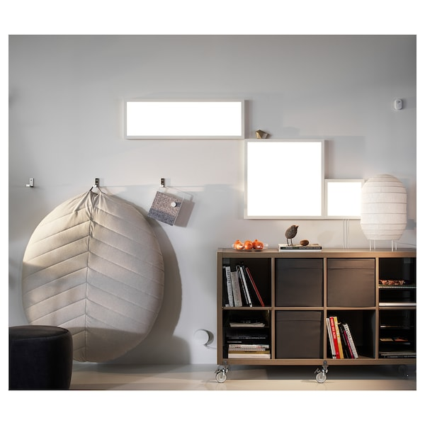 FLOALT Painel c/iluminação LED, intensidade regulável/espectro branco, 60x60 cm
