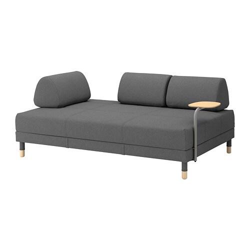 Flottebo sof cama c mesa apoio lysed cinz esc ikea for Sofas que se hacen cama