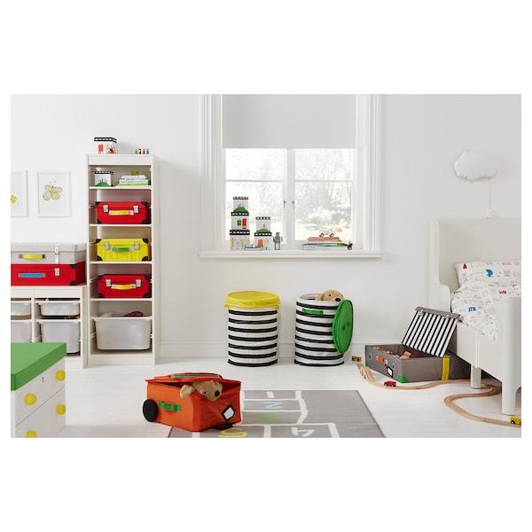 FLYTTBAR Caixa para brinquedos, turquesa, 57x35x28 cm