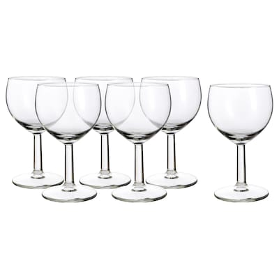 FÖRSIKTIGT copo de vinho vidro transparente 13 cm 16 cl 6 unidades