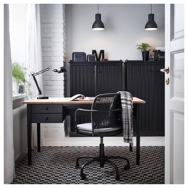 FORSÅ Candeeiro de secretária, preto