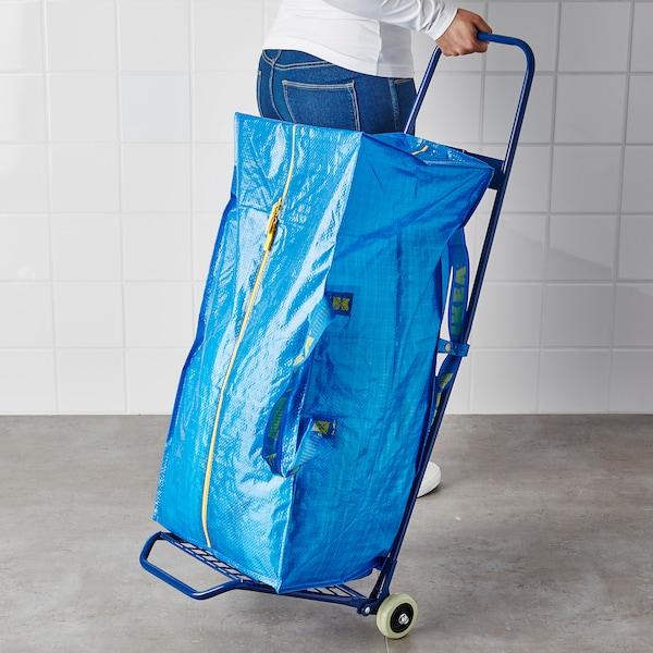FRAKTA Carrinho c/saco, azul