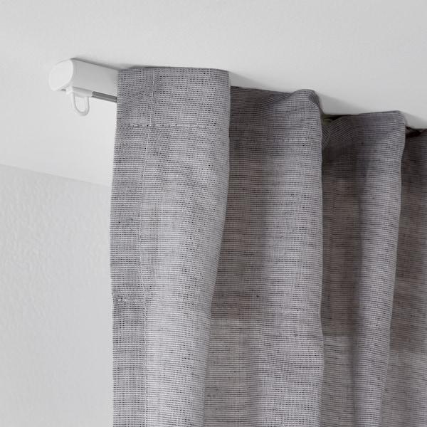 FRAMFUSIG Calha simples c/corrediças, branco, 100-180 cm