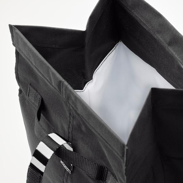 FRAMTUNG Saco-lancheira, preto, 22x17x35 cm