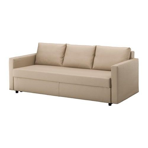 Friheten sof cama de 3 lugares skiftebo bege ikea for Sofa cama para exterior