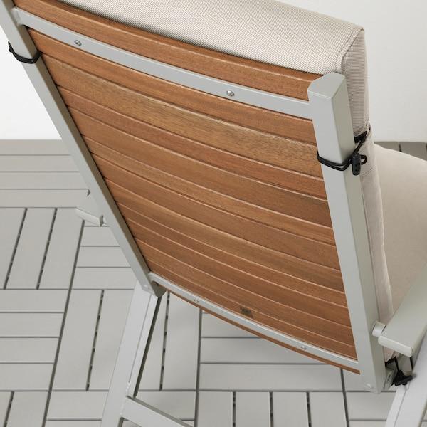 FRÖSÖN/DUVHOLMEN Almofada assento/encosto, exterior, bege, 116x45 cm