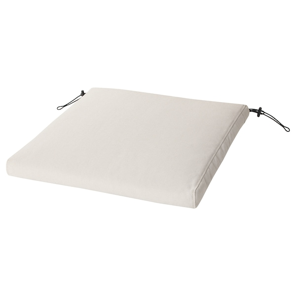 FRÖSÖN/DUVHOLMEN Almofada p/cadeira, exterior, bege, 50x50 cm