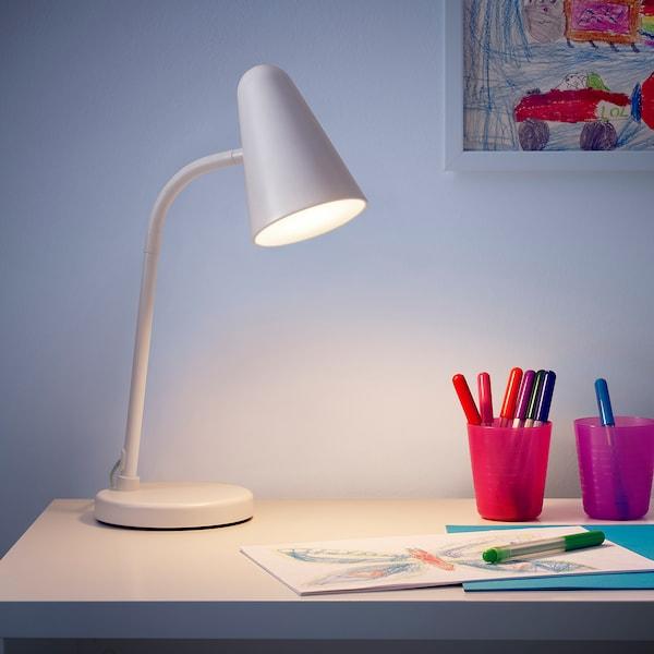 FUBBLA Candeeiro LED de secretária, branco