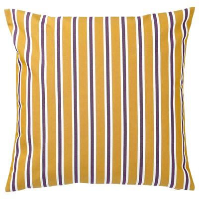 FUNKÖN capa almofada, int/ext amarelo/roxo 50 cm 50 cm