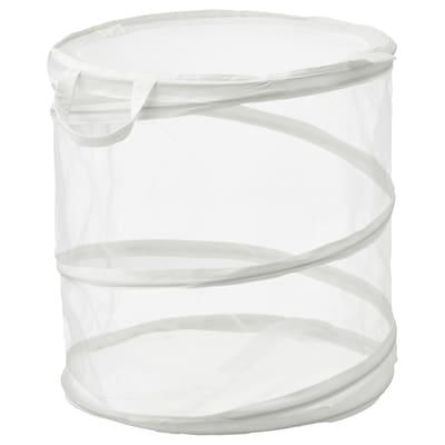FYLLEN Cesto p/roupa, branco, 79 l