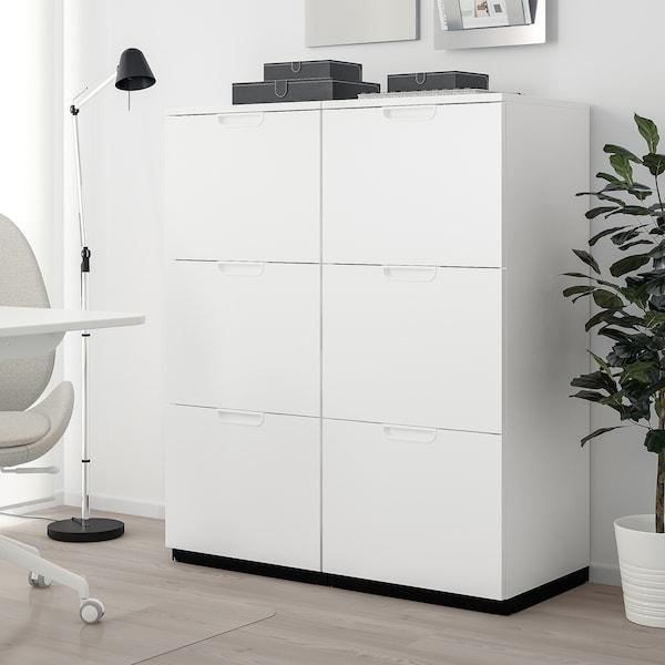 GALANT Combinação arrumação c/pastas, branco, 102x120 cm