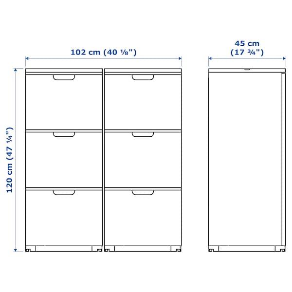 GALANT Combinação arrumação c/pastas, chapa de carvalho c/velatura branca, 102x120 cm
