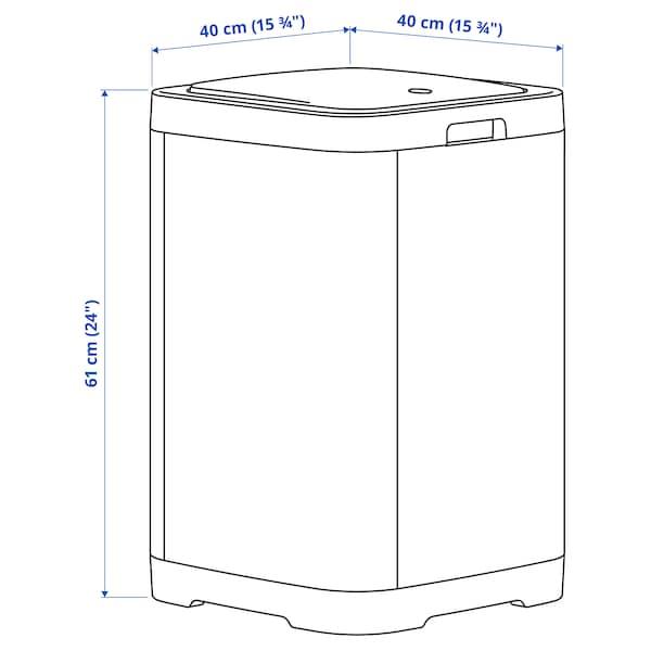 GIGANTISK Caixote c/tampa de pressão, cinz esc, 60 l