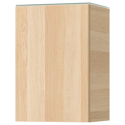 GODMORGON Armário parede c/1 porta, ef carvalho c/velatura branca, 40x32x58 cm