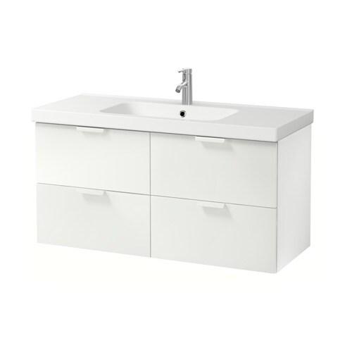 Godmorgon Odensvik Armario P Lavatorio C 4gavetas Branco Ikea